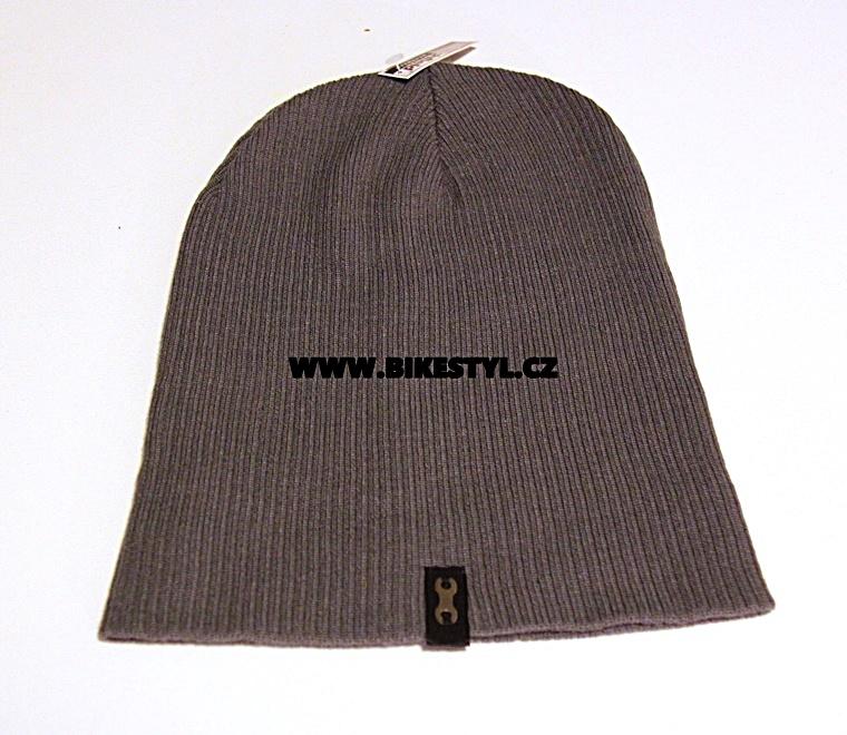 Zimní pletená čepice unisex UZU grey Utrženej Ze řetězU