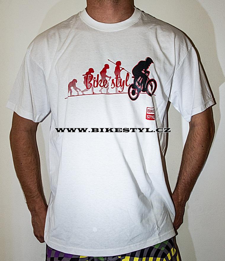 cd0a5b831a47 Triko Bikestyl Evolution bílé