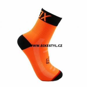 Ponožky Fox Racing DH orange 43-45 L/XL
