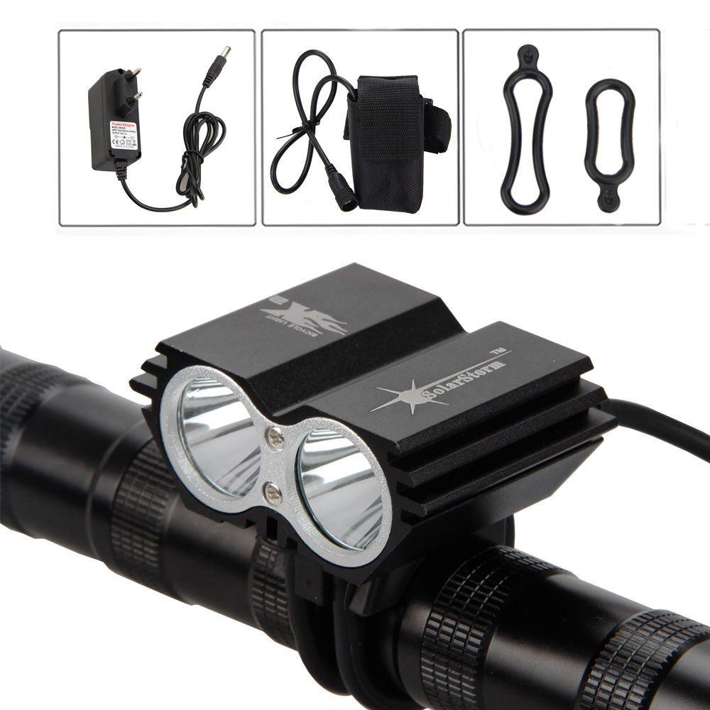 Lampa XM-L T6 LED 5000Lm 2X Cree T6 diody cyklo světlo