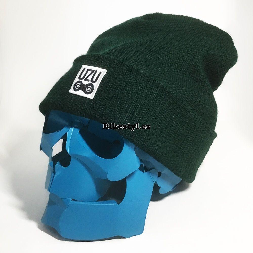 UZU zimní pletená čepice unisex green
