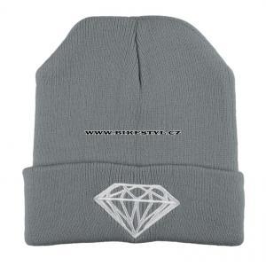 ... Diamond zimní pletena čepice šedá 986ed914dd