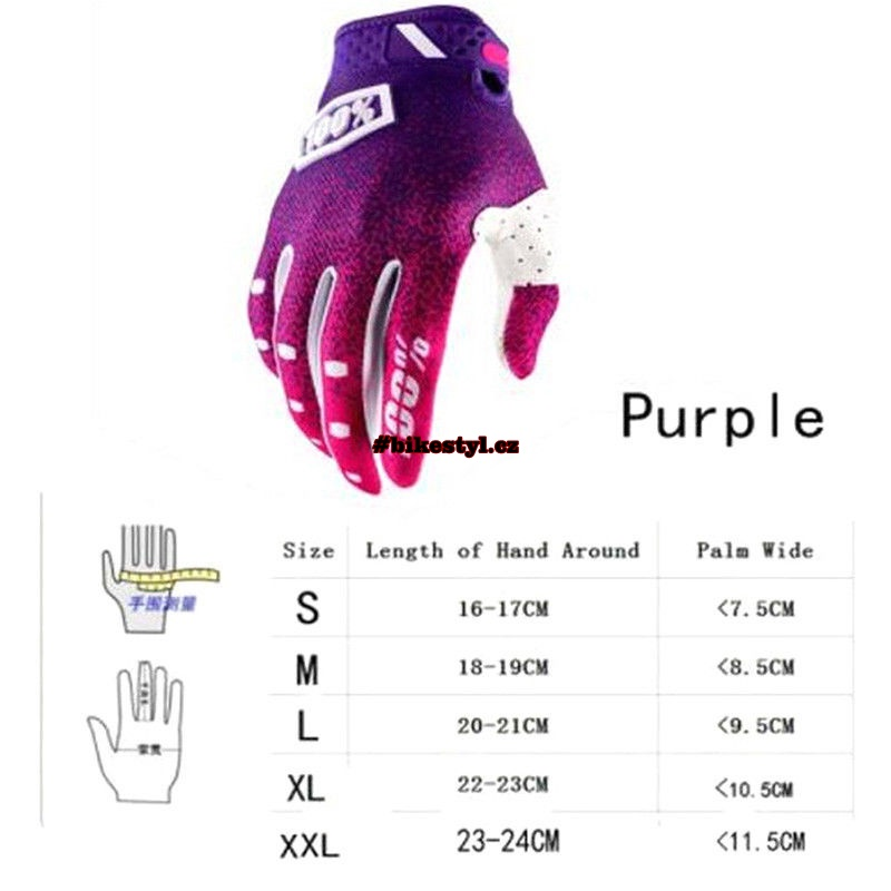 61926a947d 100 procent purple pink gloves mtb mx ladies · rukavice ...