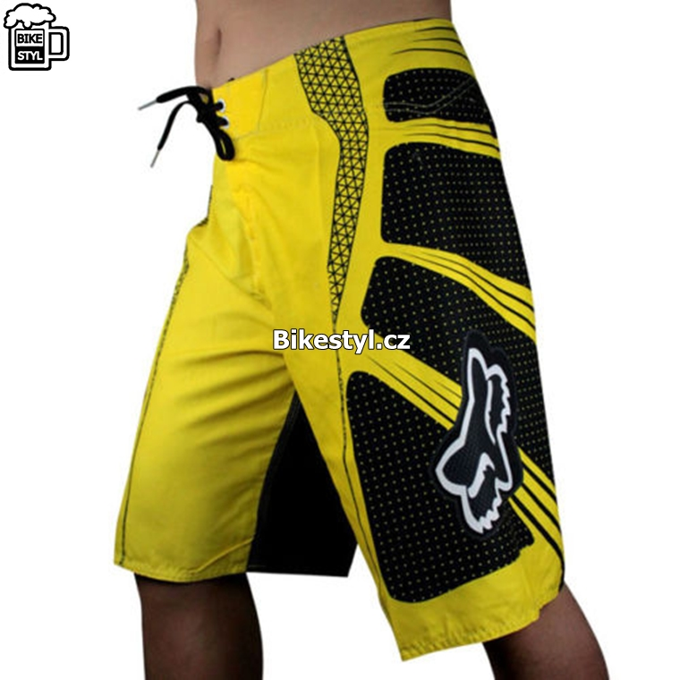 fox racing boardshorts yellow
